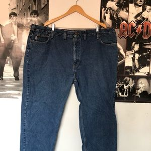 carhartt relaxed fit plus sized men's jeans 50x30